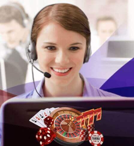 casino customer support woman